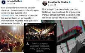 Gruperos mandan mensajes de apoyo ante lo ocurrido en el Metro CDMX